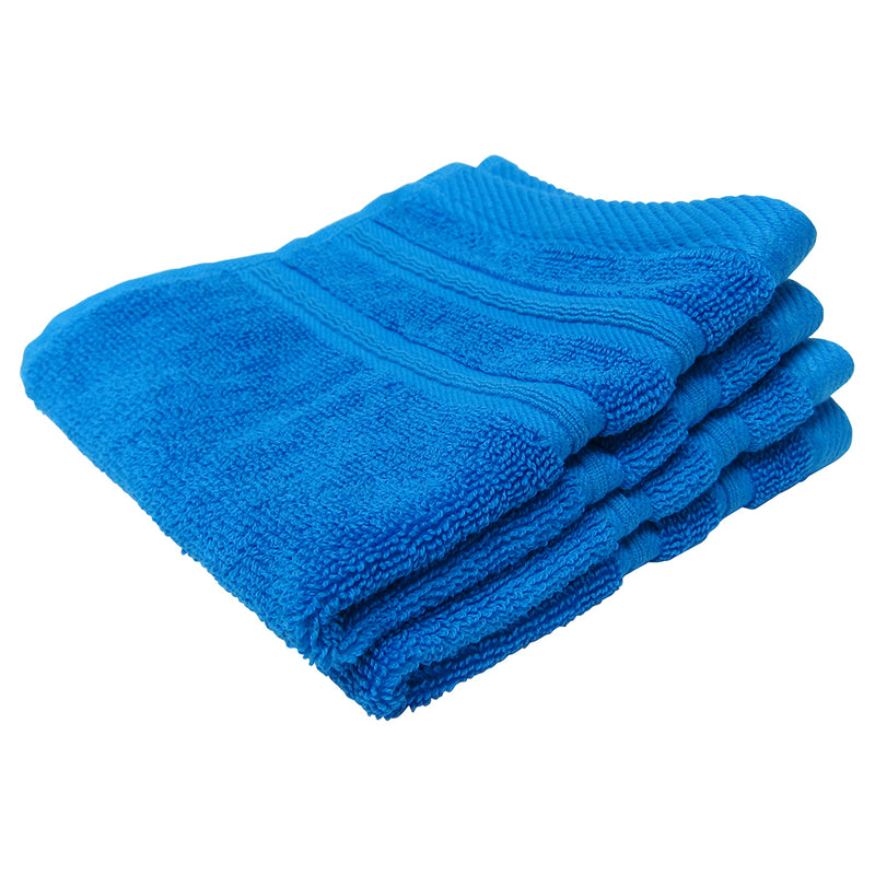 Feather and Stitch 2-Ply Wash Cloth, 2-Pack, 13x13 Inches, Cobalt (Pack of 2)