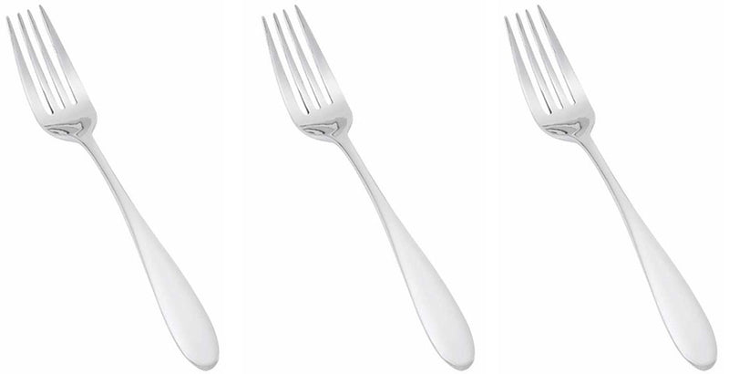 Reflections Stainless Steel Dinner Forks, 8 Inches, 3-pieces
