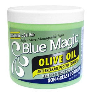 Blue Magic Leave-in Styling Conditioner Non-greasy Formula Olive Oil - 13.75 Ounces