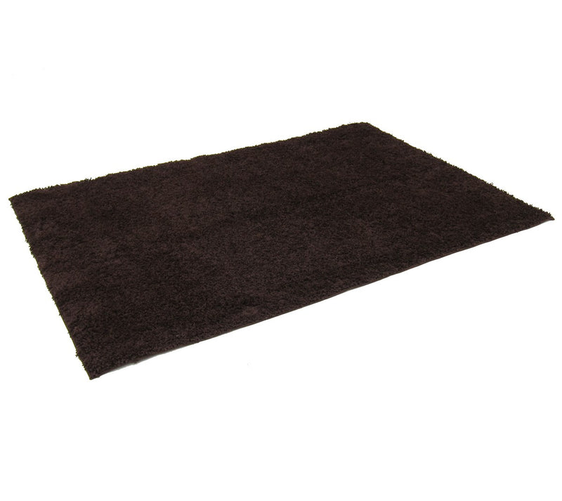 Cory Shaggy Area Rug Chocolate Brown - 5x8