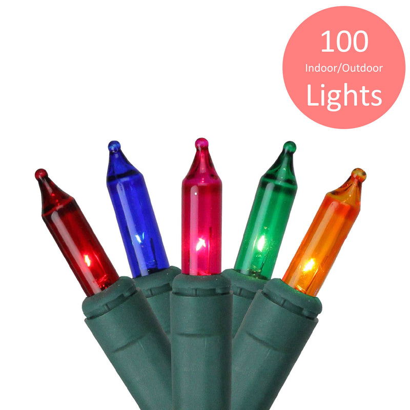 Premius Indoor and Outdoor Mini Light Set, 100 Bulbs, Multi-Color