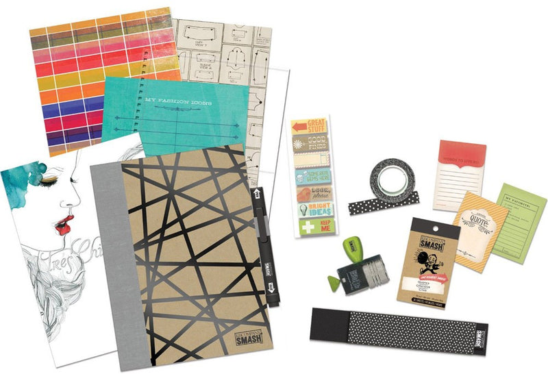 K&company Smash Couture Journal Bundle With Pen, 74 Accessories
