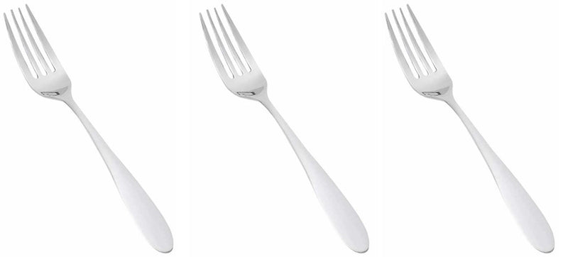 Reflections Stainless Steel Salad Forks, 7.5 Inches, 3-pieces