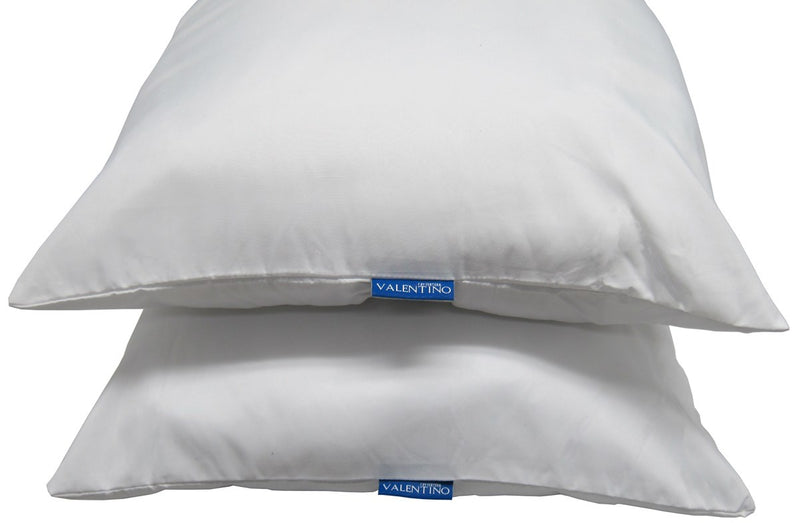 Valentino Twin Pack Soft Density Pillow White - 20x28