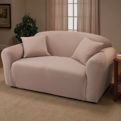 Madison Jersey Stretch Solid Furniture Slipcover, Linen