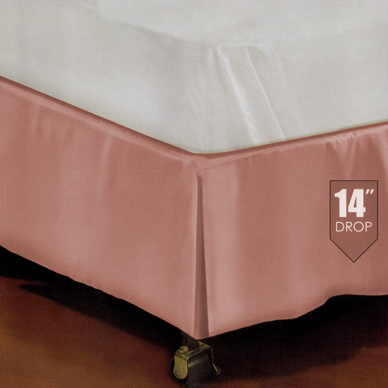 Kennedy Tailored Platform Top Bed Skirt, Pink