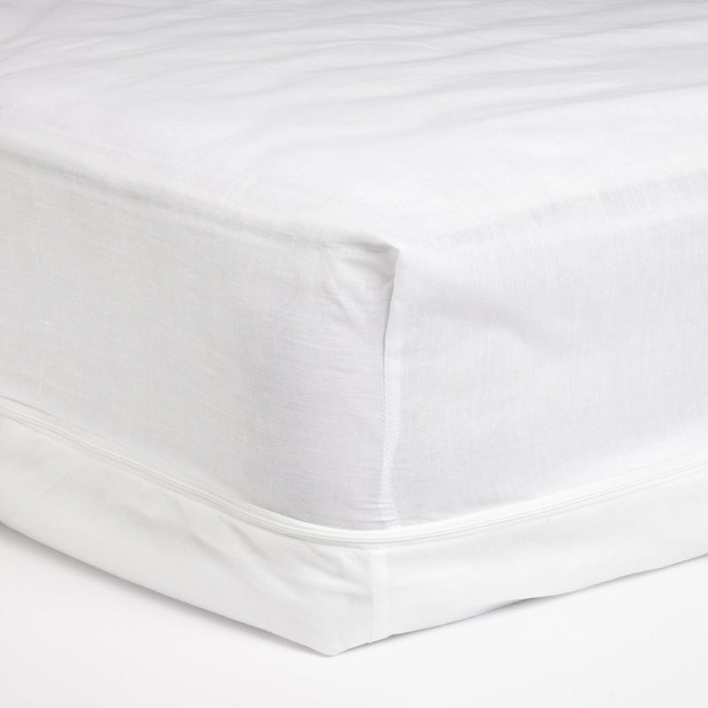 Adorable Poly-Cotton Touch Zippered Mattress Protector Cover, White