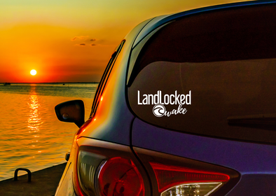 "LandLocked Wake Decal - 6"" wide x 3"" high"