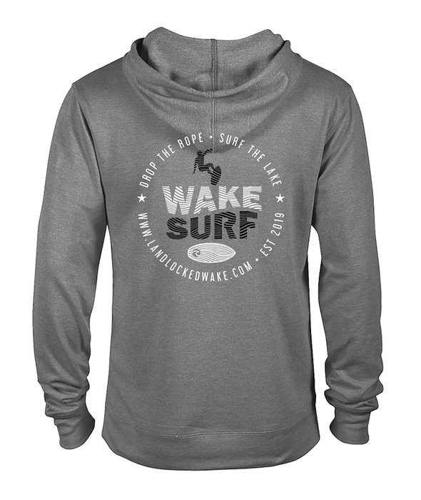 Wake Surf French Terry Hoodie - Black Ink