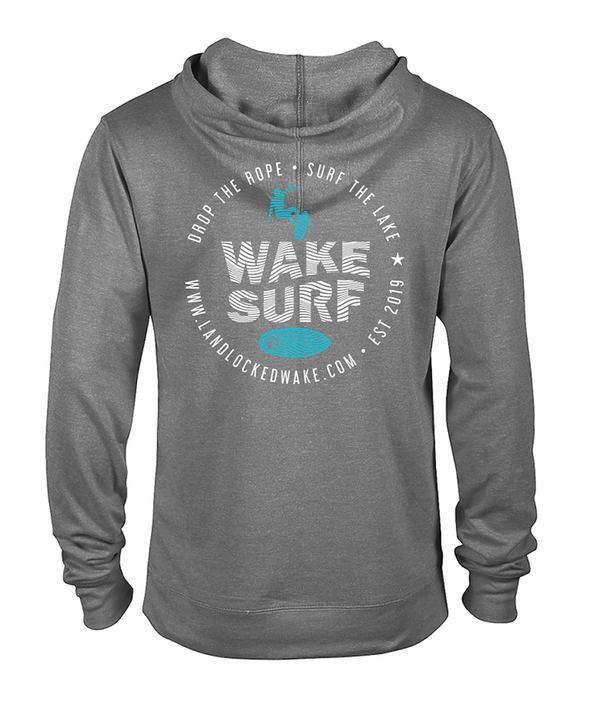 Wake Surf French Terry Hoodie - Teal Ink