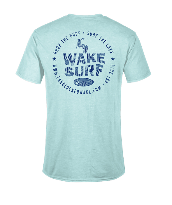 Wake Surf Tee - Blue Ink