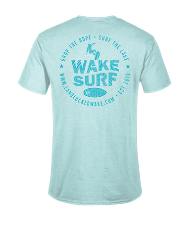 Wake Surf Tee - Teal Ink