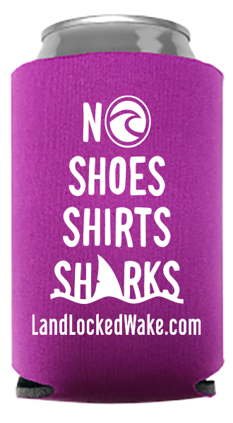 No Shoes, Shirts, Sharks Can Cooler