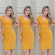 Walking on sunshine yellow dress