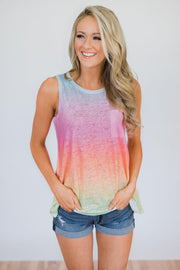 Spring into summer ombre top
