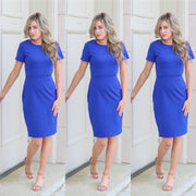 Feeling the royal blue bodycon dress