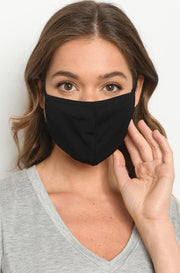 Washable Solid Face Mask in Black