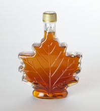 Load image into Gallery viewer, Glass Maple Leaf New York State Pure Maple Syrup