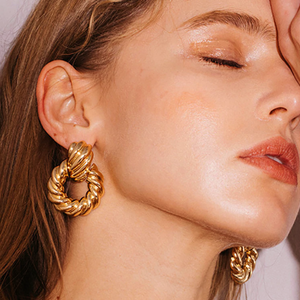 Irregular Round Drop Earrings