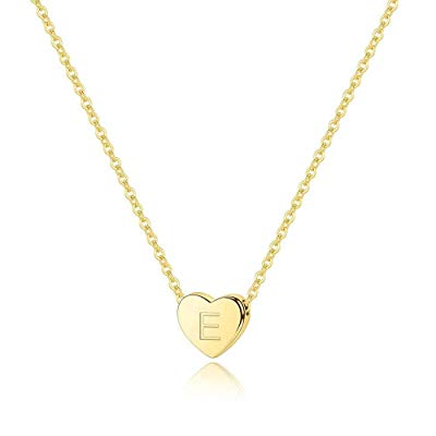 Initial Heart Necklace-14K Gold