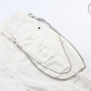 Rock Punk Silver Chain and  Accessories