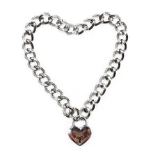 Load image into Gallery viewer, DreamBell Fashion Women Punk Cool Neck Collar Slave Game Pet Heart-Shape  Padlock Metal Choker Necklace