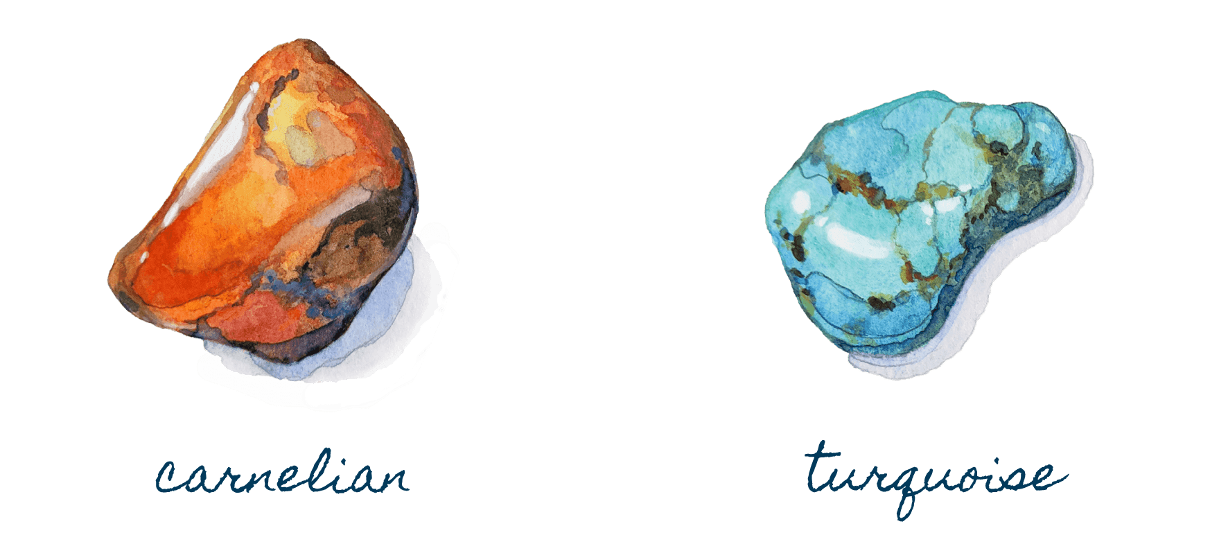 Mind Collection - Carnelian, Turquoise