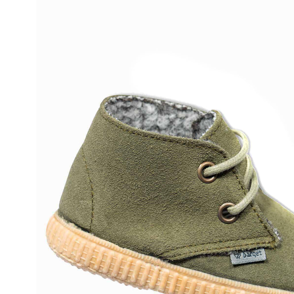 barqet dogma high kids green suede