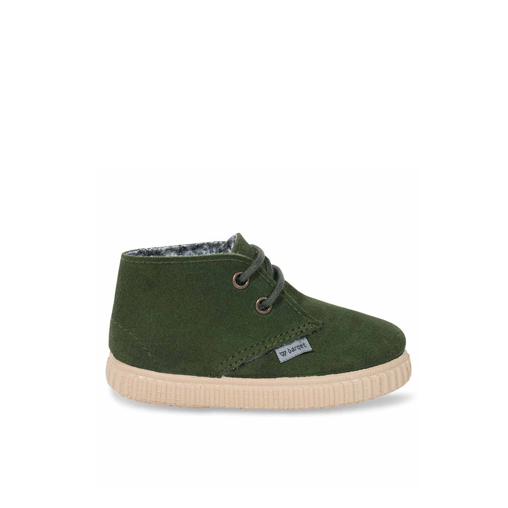 barqet dogma high kids dark green suede