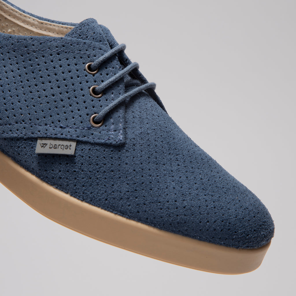 Barqet Dogma Low Perforated Indigo Suede