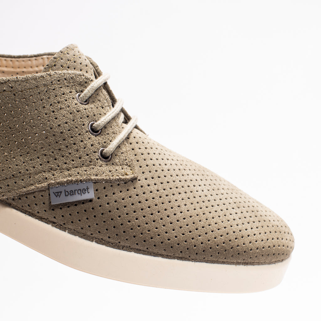 Barqet Dogma Low Perforated Olive Suede