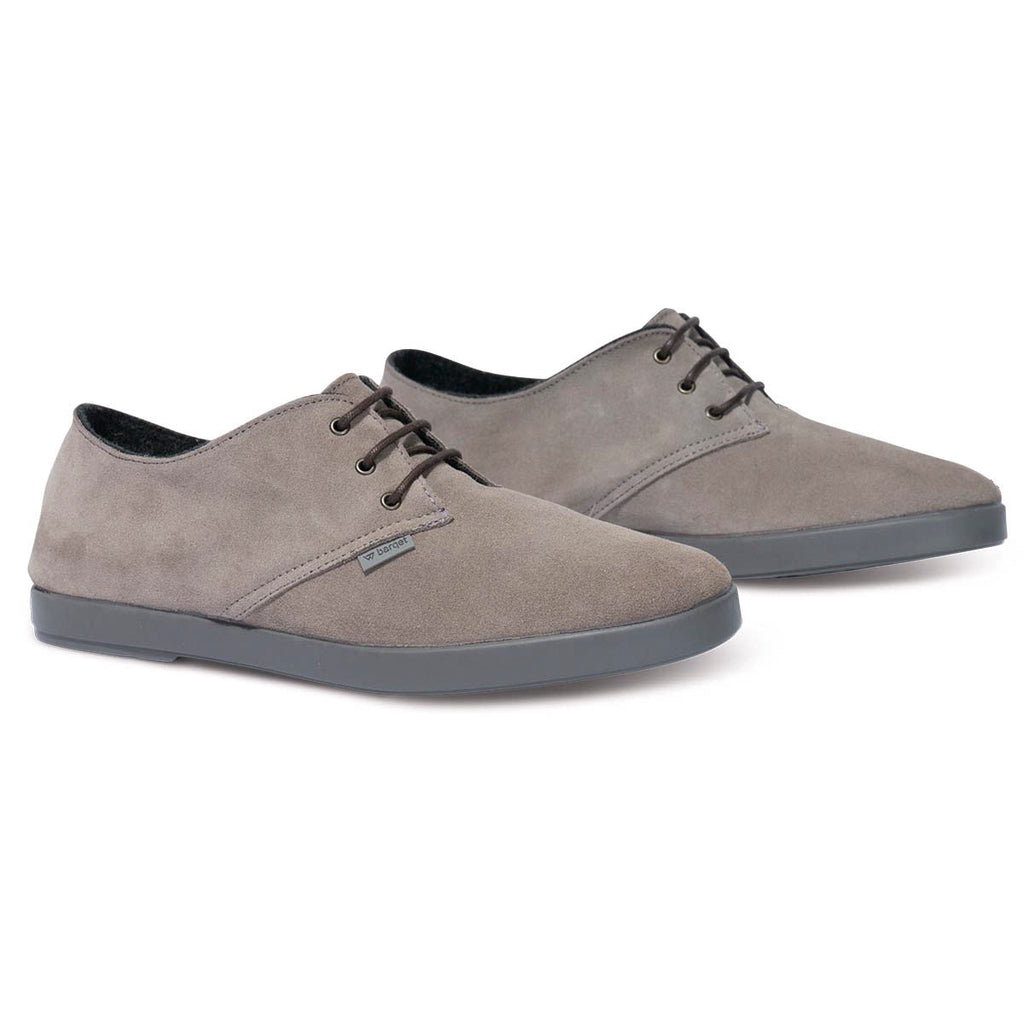 barqet dogma low basic grey suede