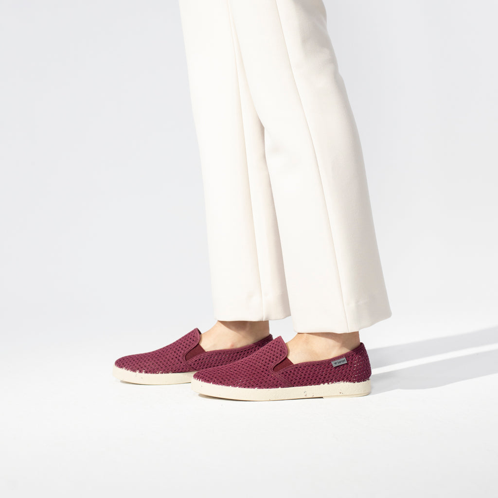 Barqet Dogma Rejilla Slip-on Burgundy