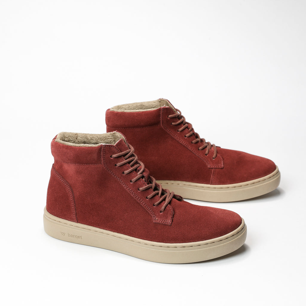 barqet paradigma high burgundy suede