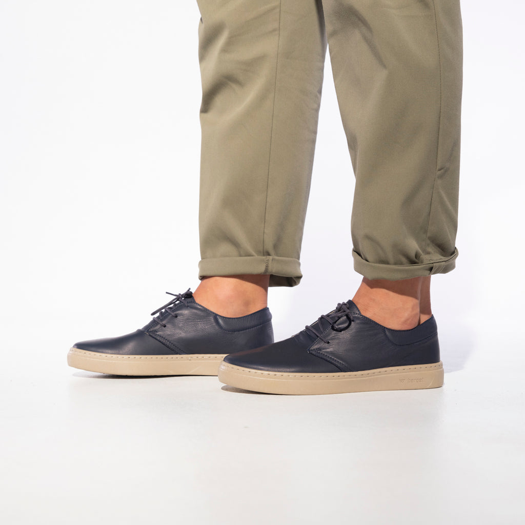 barqet paradigma low navy leather