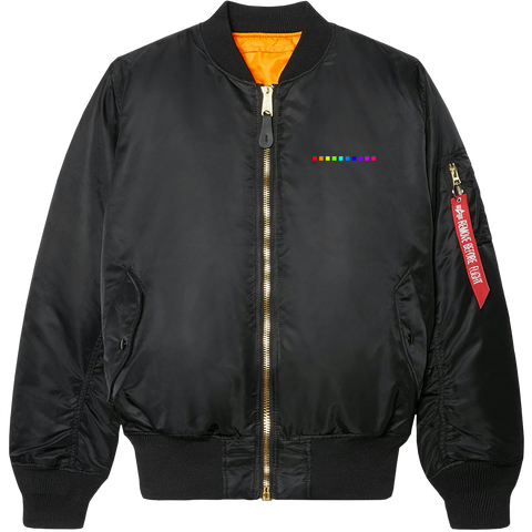 COLOUR VISION EMBROIDERED BOMBER JACKET (LIMITED EDITION)