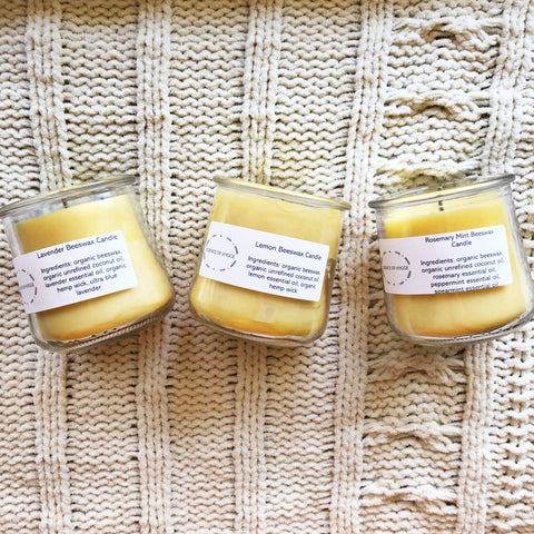 Natural Beeswax Hand-Poured Jar Candles 5 oz