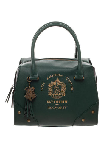 Harry Potter Slytherin Luxury Plaid Top Handbag - Merch Rox