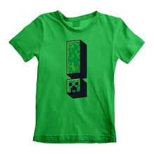 Load image into Gallery viewer, Minecraft Creeper Exclamation Kids T-shirt