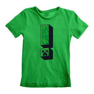Minecraft Creeper Exclamation Kids T-shirt