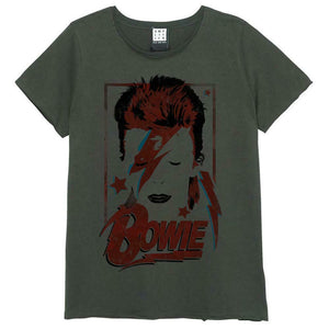 Amplified David Bowie Aladdin Sane Womens T-Shirt - Merch Rocks