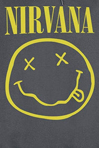 Nirvana Smiley Hooded Sweatshirt from Amplified - Merch Rox