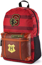 Load image into Gallery viewer, Harry Potter Gryffindor House Stripe with Trunk Backpack