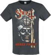 Load image into Gallery viewer, Amplified Ghost 'Here's Papa' Charcoal T-shirt - Merch Rox