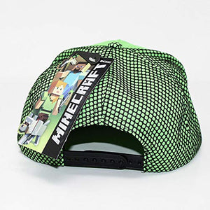 Minecraft High Build Embroidery Snapback Baseball Cap