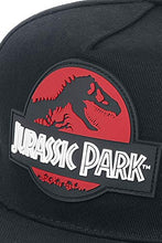 Load image into Gallery viewer, Jurassic Park Red Logo Men Black Cap