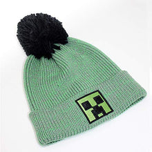 Load image into Gallery viewer, Minecraft Block Face Pom Pom Beanie Hat