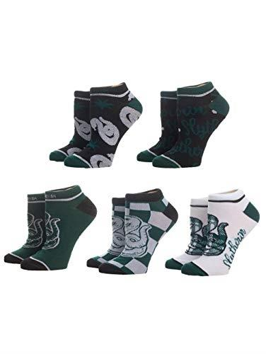 Harry Potter Slytherin Ankle Socks 5 Pair Pack - 4-7 - Merch Rox