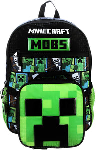 Minecraft MOBS 5 piece Backpack