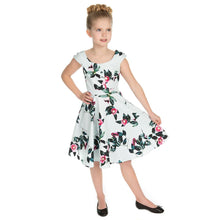 Load image into Gallery viewer, Hearts & Roses Girls 50's style Mademoiselle Swing Dress - Merch Rocks